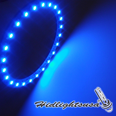 Car Angel Eyes 24 Smd 1210 Blue Led Ring Hid Lights Usa