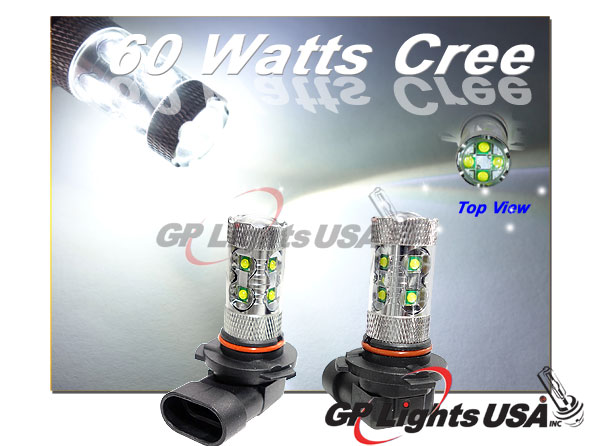 gp thunder 9005 with12 60w cree fog projector lens hid