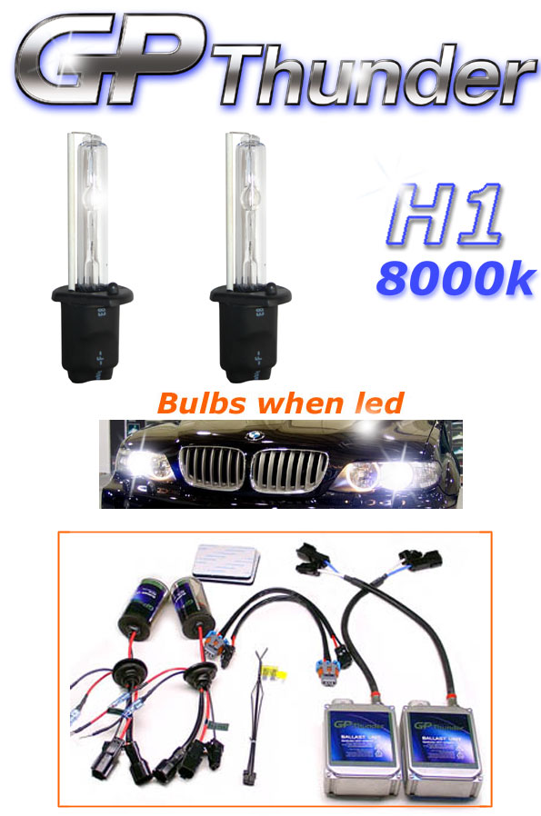 Gp Thunder H1 8000k Hid Kit Diamond White Kits Hid