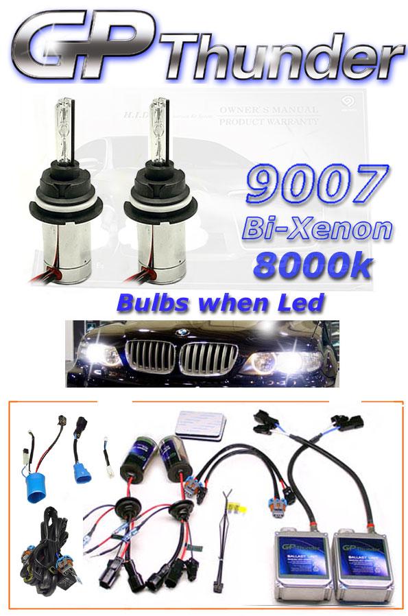 GP 9007 BI XENON 8000K HID Kit Crystal Blue Kits