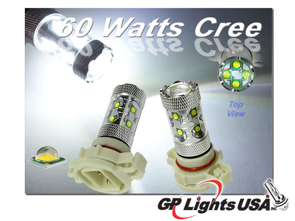 Gp Xtreme 5202 2504 H16 9009 Ps24w 60w Cree High Power For